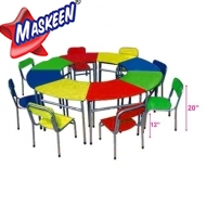 Kids Chair Table (8 Pcs set) Manufacturer in Nepal