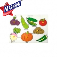 Knob Puzzle Vegetables Manufacturer in Bijnor