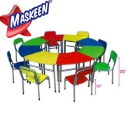 SR Kids Chair Table (8 Pcs set) Manufacturer in Bikaner